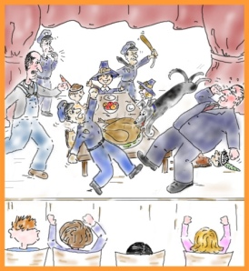Chaos at the Thanksgiving Pageant