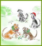 The Twelve Dogs of Christmas Canine Carol Singers
